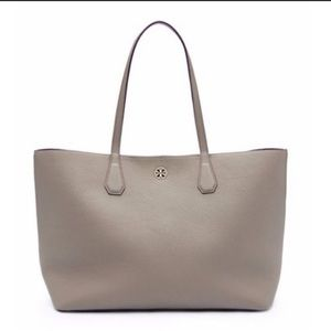 Large Tory Burch Pebbled Leather Perry Tote Bag